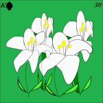 Lenormand card 30 lily